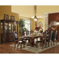 ACME Vendome Dining Table w/Double Pedestal, Cherry (1Set/3Ctn)