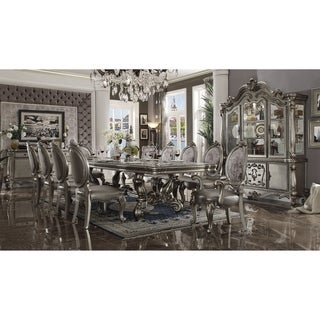 "ACME Versailles Dining Table (136""L), Antique Platinum (1Set/2Ctn)"