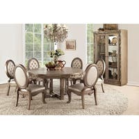 ACME Orianne Dining Table in Antique Gold - Antique Gold