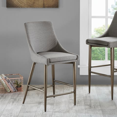 "Madison Park Hoover Grey Counter Stool - 19""w x 23.5""d x 40.25""h"