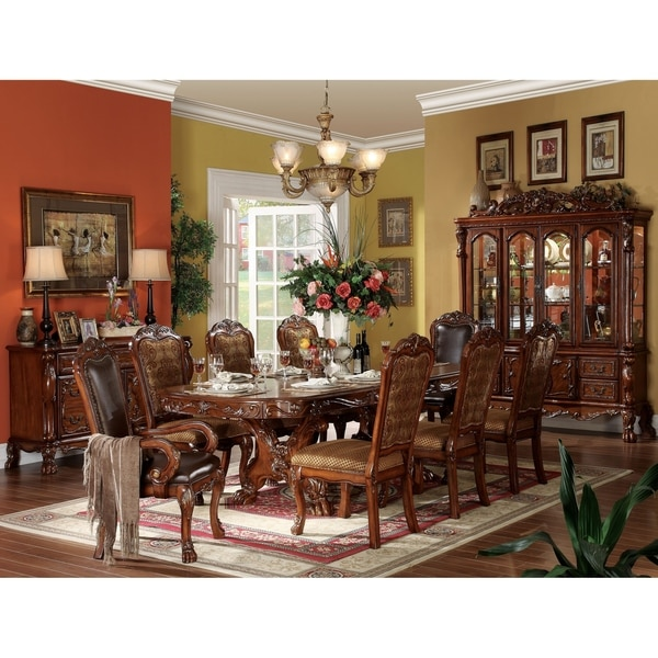 Furniture Of America Mallory Formal Cherry Red: Shop ACME Dresden Dining Table With Trestle Pedestal