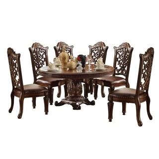 ACME Vendome Dining Table w/Pedestal, Cherry (1Set/3Ctn)
