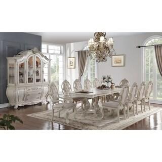 ACME Ragenardus Dining Table w/Double Pedestal, Antique White (1Set/2Ctn) - Antique White