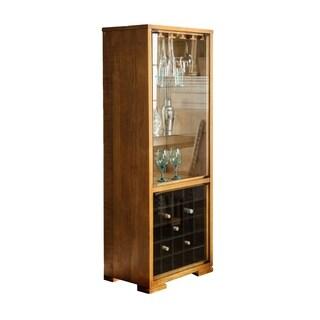 Wooden Wine Cabinet, Oak Brown