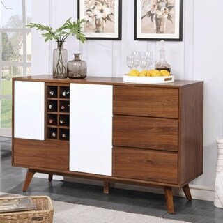 Wine Cabinet, Oak & White Finish