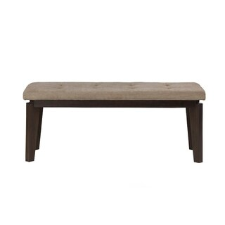 Upholstered Bench In Acacia Wood Beige And Brown