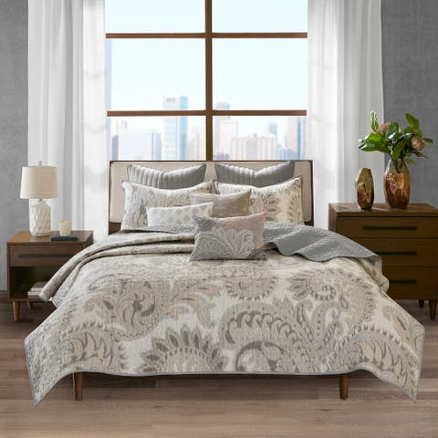 INK IVY Mira Blush 3 Piece 100-percent Cotton Coverlet Set
