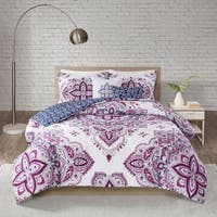 510 Design Emmi Indigo/Purple 5 Piece Reversible Print Comforter Set