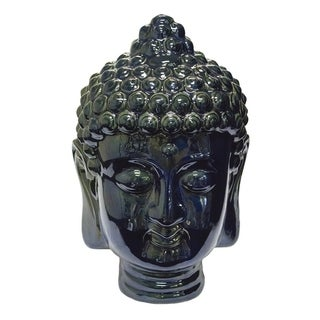 Artistically Designed Buddha Head Sculpture, Blue