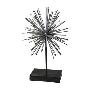 Exquisite Metal Starburst Sculpture, Silver