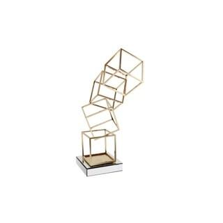 Decorative Metal Tabletop Sculpture On Crystal Base