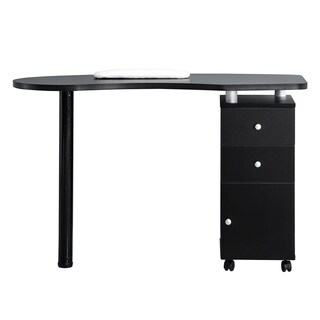 BarberPub Manicure Acetone Resistant Table Nail Table Nail Station