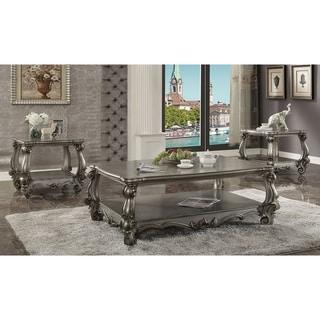 ACME Versailles Coffee Table, Antique Platinum