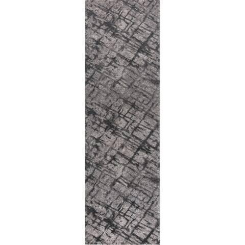 "Mod-Arte Twilight Collection TL017-102238 Grey runner rug, 2 feet by 8 feet - 2'3"" x 8'"