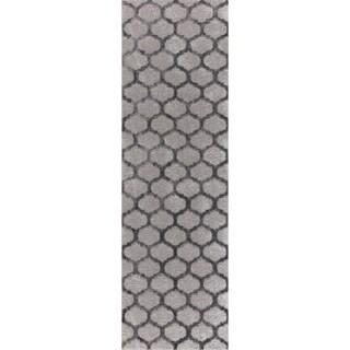 "Mod-Arte Twilight Collection TL01-102238 Grey runner rug, 2 feet by 8 feet - 3'9 x 5'4/2'3"" x 8'/3'9 x 5'3"