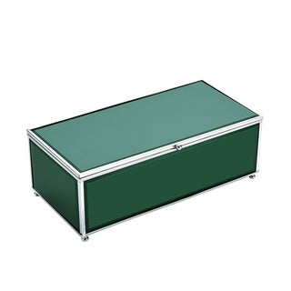 Versatile Wood And Glass Storage Box, Green