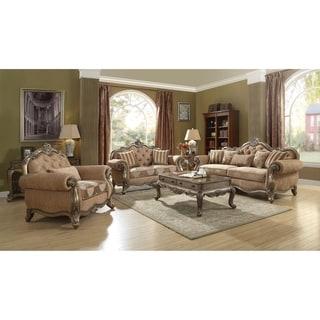 Link to ACME Ragenardus Sofa w/5 Pillows, Fabric & Vintage Oak Similar Items in Living Room Furniture Sets