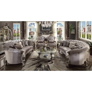 Link to ACME Versailles Sofa w/5 Pillows, Velvet & Antique Platinum Similar Items in Loveseat Sets