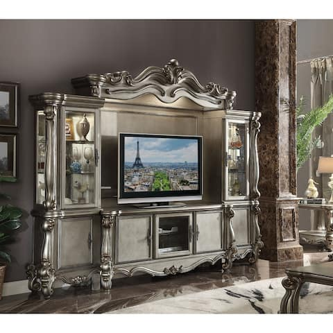 ACME Versailles TV Console, Antique Platinum (For Flat Screens TV's up to 72 Inches)