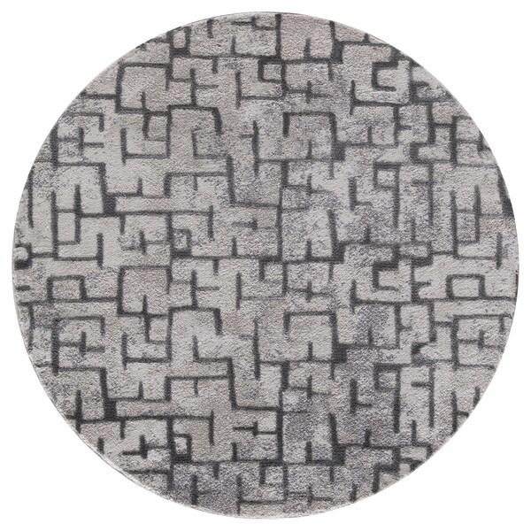 Shop Mod Arte Twilight Collection Tl10 10255 Grey Round Area Rug 5