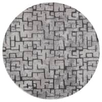 Mod-Arte Twilight Collection TL10-10255 Grey round area rug, 5 feet round - 5'3 x 5'3