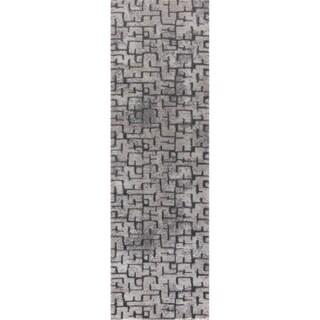 "Mod-Arte Twilight Collection TL10-102238 Grey runner rug - 2'3"" x 8'"
