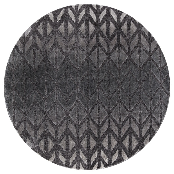 Mod Arte Twilight Collection Tl11 10255 Charcoal Round Area Rug 5 Feet