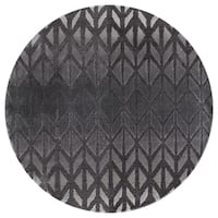 Mod-Arte Twilight Collection TL11-10255 Charcoal round area rug, 5 feet round - 5'3 x 5'3