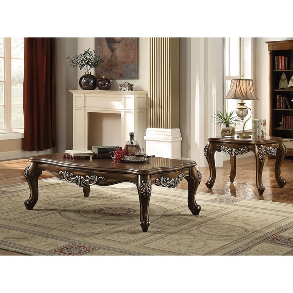 ACME Latisha Coffee Table, Antique Oak
