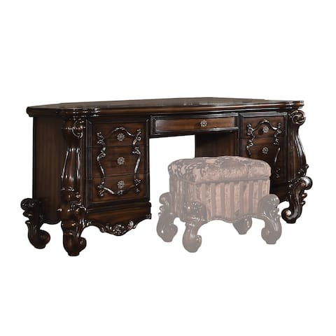 ACME Versailles Vanity Desk, Cherry Oak