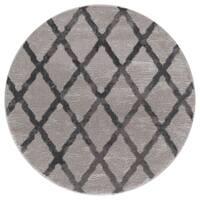 Mod-Arte Twilight Collection TL08-10255 Grey round area rug, 5 feet round - 5'3 x 5'3