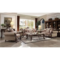 Acme Mehadi Walnut Coffee Table with Marble Top