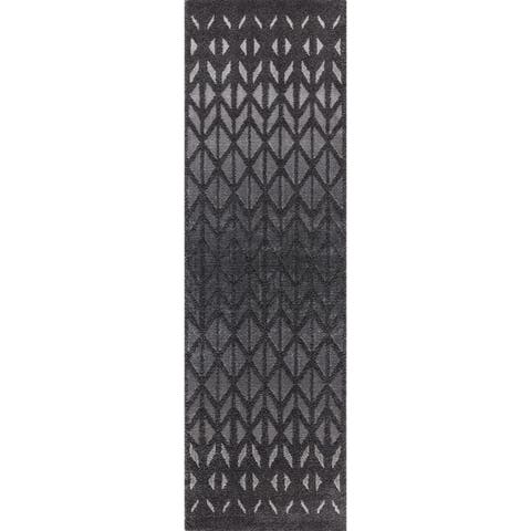 """Mod-Arte Twilight Collection TL11-102238 Charcoal runner rug, 2 feet by 8 feet - Charcoal/Grey - 2'3"""" x 8'"""