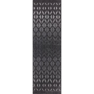 """Mod-Arte Twilight Collection TL11-102238 Charcoal runner rug - 2'3"""" x 8'"""