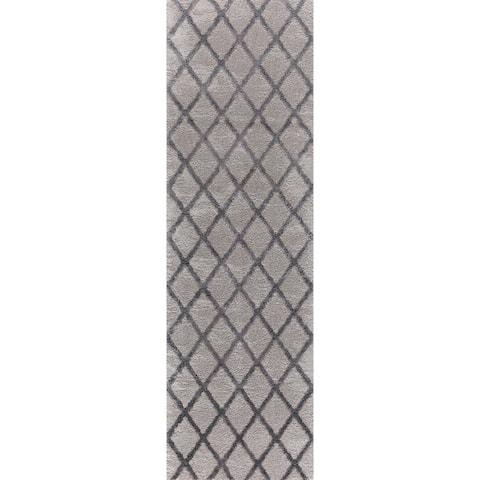 "Mod-Arte Twilight Collection TL08-102238 Grey runner rug - 2'3"" x 8'"