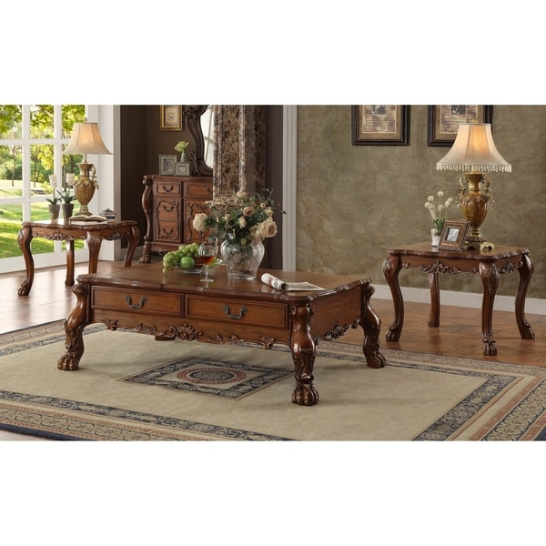 Acme Dresden Coffee Table Cherry Oak