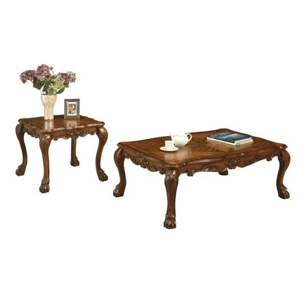 Acme Dresden Coffee Table Cherry Oak Overstock 21620465