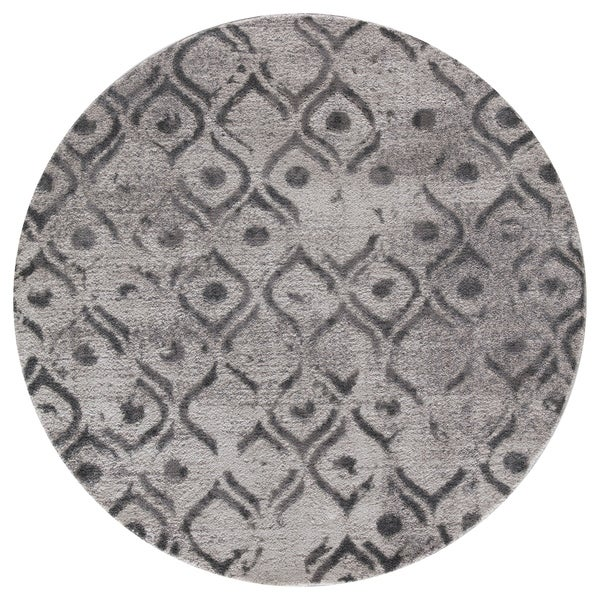 Shop Mod Arte Twilight Collection Tl09 10255 Grey Round Area Rug 5