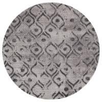 Mod-Arte Twilight Collection TL09-10255 Grey round area rug, 5 feet round - 5'3 x 5'3