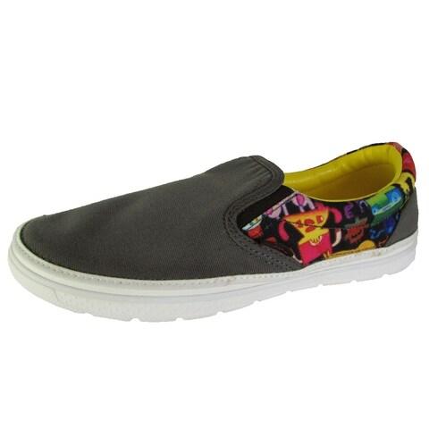 Crocs Mens Norlin Burger Slip On Loafer Shoes, Graphite/White
