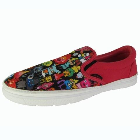Crocs Mens Norlin Burger Slip On Loafer Shoes, Red/White