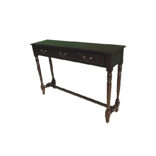D-Art Collection Mahogany Parker Hall Table 3 Drawer