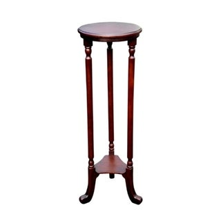Offex Handcrafted Solid Kiln Dried Mahogany Barley Plantstand