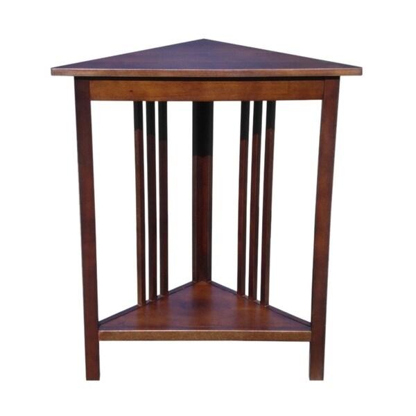 Offex Solid Kiln Dried Mahogany Espana Corner Table