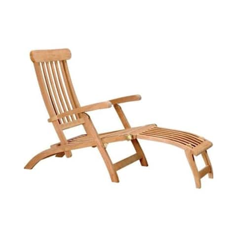 Offex Solid Teakwood Steamer Deck Chair