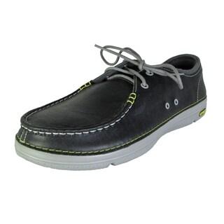 Crocs Mens Thompson II.5 Lace Moc Toe Loafer Shoes, Charcoal/Light Grey