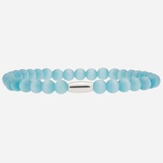 Tara Mesa Light Blue Cat's Eye Stretch Bead Bracelet