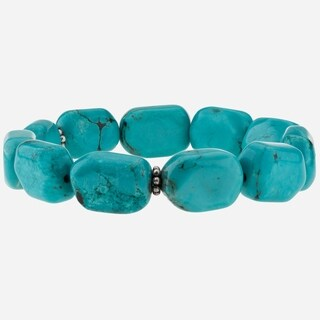 Tara Mesa Howlite Turquoise Stretch Bead Bracelet (2 options available)