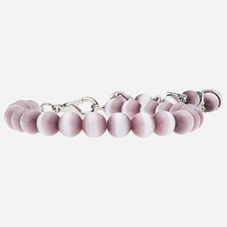 "Tara Mesa 7.5"" Gorgeous Pink Cat's Eye Adjustable Bracelet"