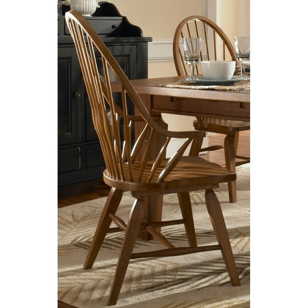 Shop Broyhill Attic Heirlooms Windsor Dining Arm Chair